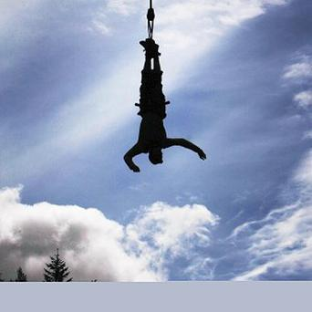 Europe's first outdoor night-time bungee jump attraction has been launched in Scotland