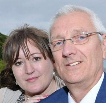 Ciara Neno , originally from Stillorgan, and her husband Roger who were caught in the M5 crash