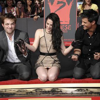The Twilight stars took part in the hand and footprint ceremony