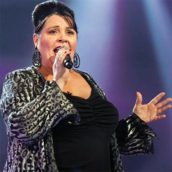 Mary performing on 'The X Factor'