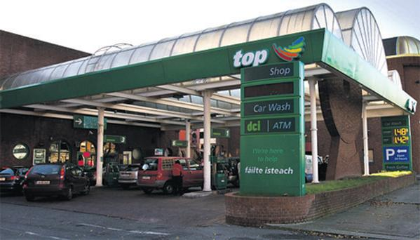 The Top Oil service station on Usher's Quay in Dublin city centre