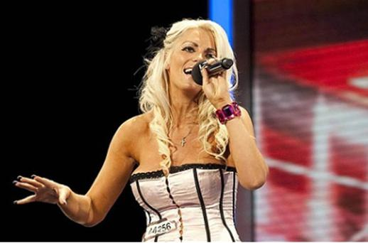 Faye Bray appeared on The X Factor in 2009. Photo: PA