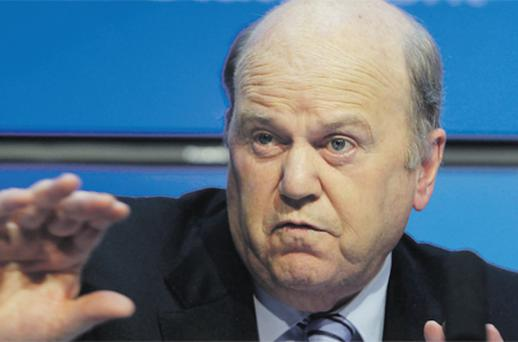 Finance Minister Michael Noonan doesn't want the public to think the forthcoming Budget is unfair. Photo: Collins
