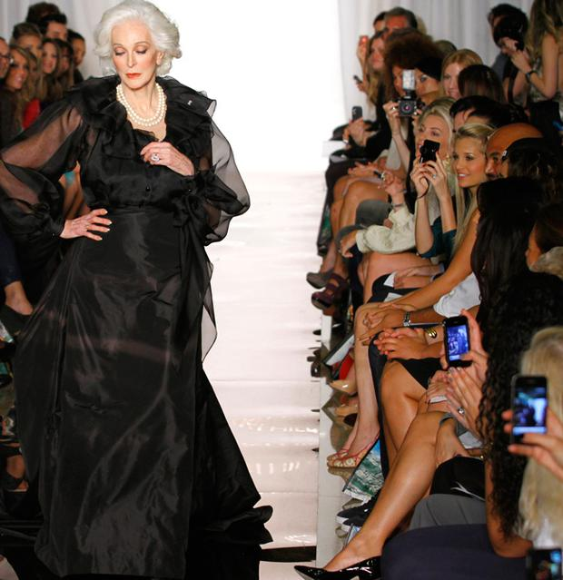 Carmen dell'Orefice attends the Evening Sherri Hill Spring 2012 fashion show during Mercedes-Benz Fashion Week September 14 2011 in New York.