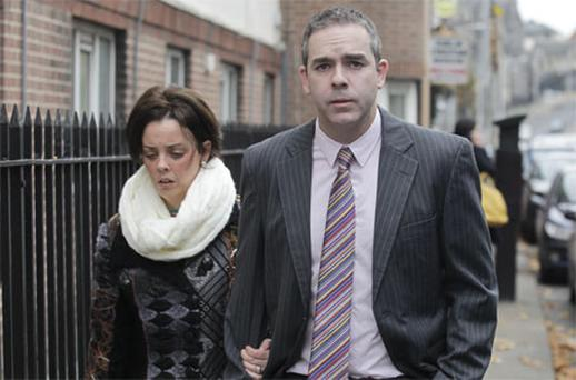 Mr and Mrs Stephen Boyce , parents of Ben Boyce, leaving court yesterday