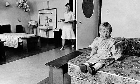 Eoin McNamara in Barrington's Hospital in 1988 in an image from the Limerick book