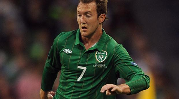 Aiden McGeady: striking fear into the hearts of Estonia's finest footballers. Photo: Getty Images