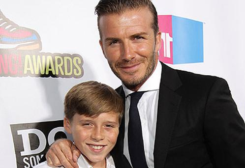 The Beckham family currently live in Los Angeles where David plays for LA Galaxy. Photo: Getty Images