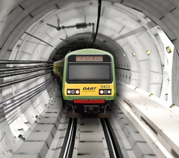 An artists impression of the proposed Dart underground