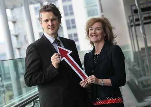 Pictured launching the latest IAB/PwC online adspend for Jan to June 2011 showing over 20% growth are Bartley O'Connor, PwC and Suzanne McElligott, CEO, IAB Ireland