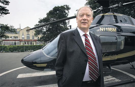 Jim Mansfield at his Citywest complex in 2008. Photo: Tony Gavin