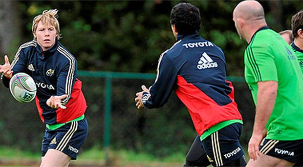 Munster training session ahead of their Heineken Cup clash with Northampton