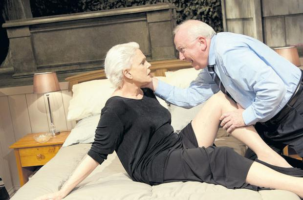 Old age pensioners having sex