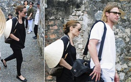 Brad Pitt and Angelina Jolie visit Con Dao prison off Vietnam's southern coast. Photo: Reuters