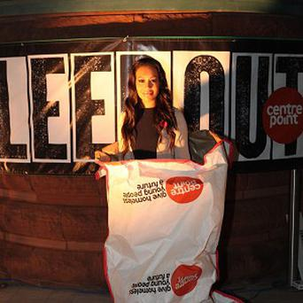 Rebecca Ferguson joined hundreds of people at the Sleep Out