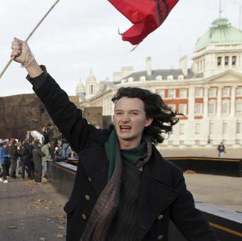Charlie Gilmour has been charged with violent disorder during a student fees protest (AP)