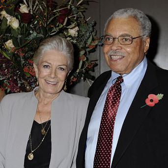 Vanessa Redgrave and co-star James Earl Jones at the Academy tribute to the actress