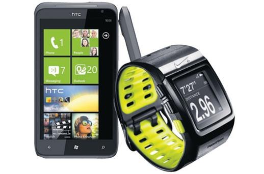 Running order: The HTC Titan and the Nike TomTom Sportwatch