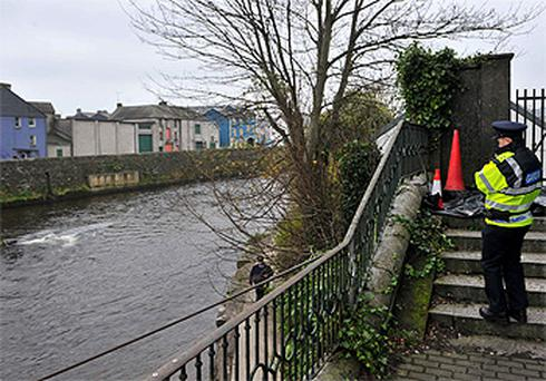 The scene near St Finbarr's Place in Bandon, Co Cork, where a second body was discovered today