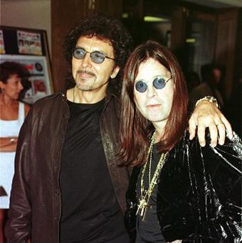 Tony Iommi and Ozzy Osbourne of heavy metal pioneers Black Sabbath