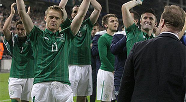 Job done: Ireland have booked their spot in the 2012 European Championships