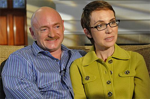 Gabrielle Giffords and husband Mark Kelly