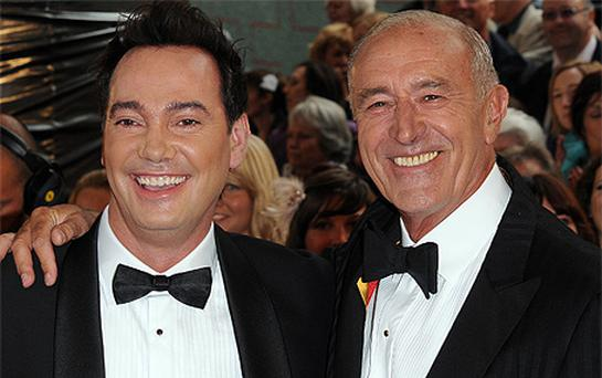 Len Goodman, left, has been condemned by viewers for calling fellow Strictly Come Dancing judge Craig Revel Horwood a 'sod' live on television