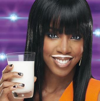 X Factor judge Kelly Rowland has been unveiled as the new face of the 'make mine Milk' campaign