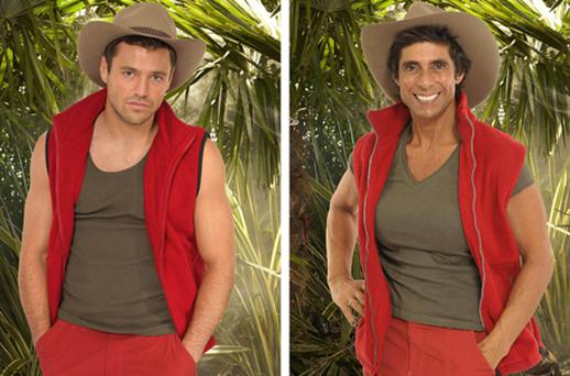 Mark Wright and Fatima Whitbread, two of the contestants in this year's I'm A Celebrity.... Get Me Out Of Here. Photo: PA