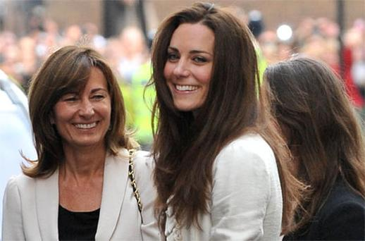 Catherine - Duchess of Camridge with mum Carole. Photo: Getty Images