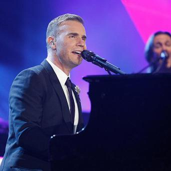 Gary Barlow performs at the Children In Need Rocks Manchester