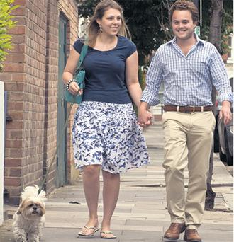 Heidi Withers and husband Freddie Bourne out and about in London