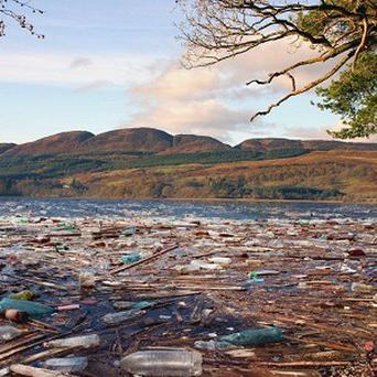 Domestos created an image to show how poor toilet hygiene would destroy areas such as Loch Lomond