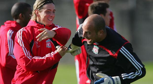 Fernando Torres and Pepe Reina may no longer be Liverpool team-mates, but the goalkeeper still has a huge regard for the Chelsea striker and they remain the best of friends off the pitch