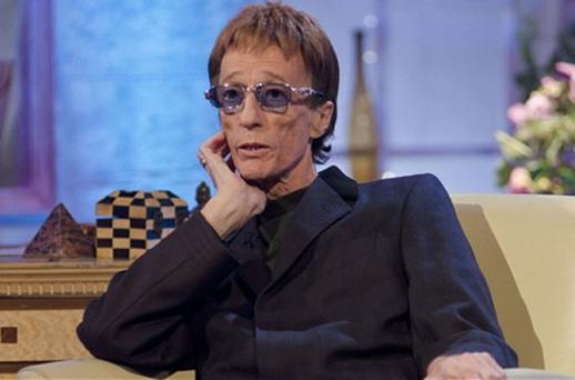 Robin Gibb during a recent television appearance