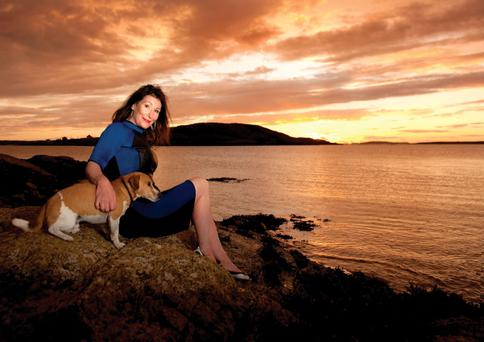 Kate O'Toole at sunset metres from her home John Spain story