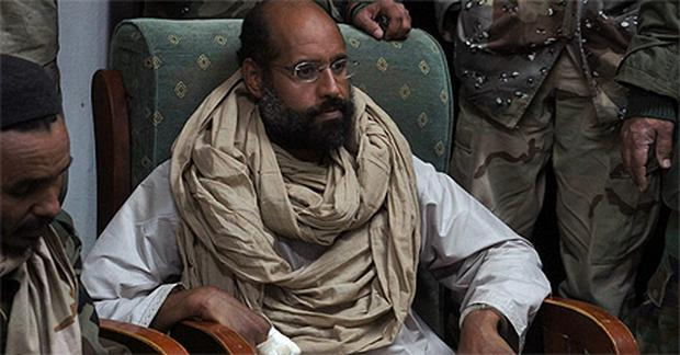 Saif al-Islam Gaddafi pictured after his capture on Saturday