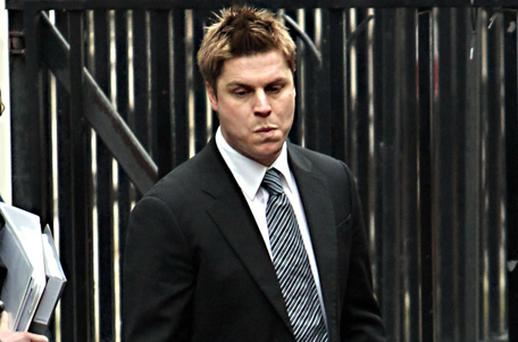 Former Premiership footballer Garry Flitcroft arrives to give evidence to the Leveson Inquiry. Photo PA