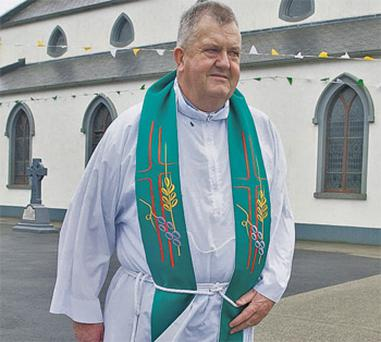 Fr Kevin Reynolds at Ahascragh Church, Co Galway