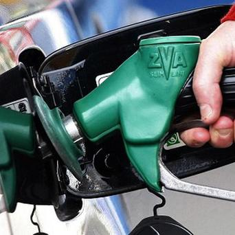 Two bungling supermarket thieves were caught when they forgot to put petrol in their getaway car