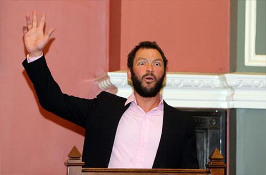 Dominic West at TCD last night