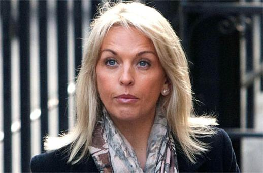Sheryl Gascoigne, the ex-wife of former England footballer Paul Gascoigne, arrives to give evidence. Photo: PA