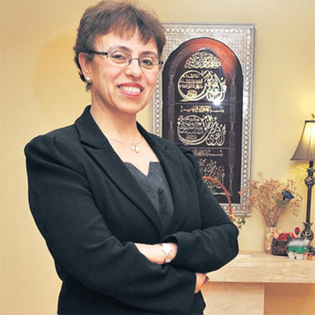 New Libyan Health Minister Dr Fatima Hamroush at home in Co Meath last night