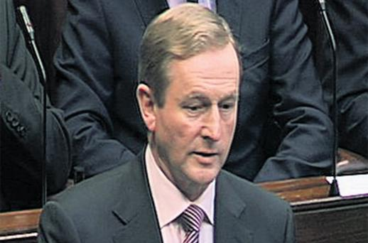 Taoiseach Enda Kenny addressing the Dail