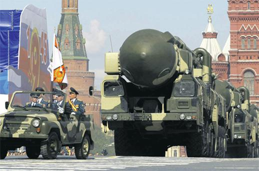Huge Ballistic missiles in Red Square