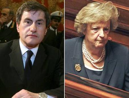 The mayor of Rome, Gianni Alemanno, left, has called on the new Interior Minister, Anna Maria Cancellieri to act
