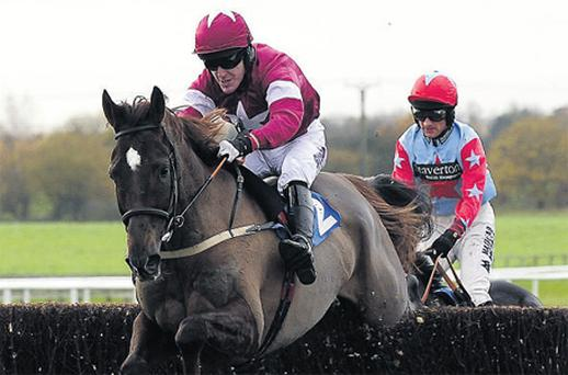 Fists Of Fury, with Tony McCoy up, on the way to victory at Wetherby yesterday