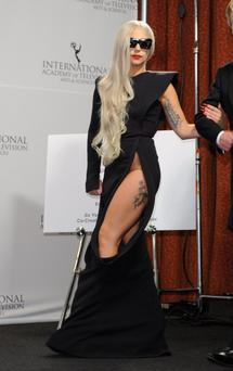 NEW YORK, NY - NOVEMBER 21: Lady Gaga attends the 39th International Emmy Awards at the Mercury Ballroom at the New York Hilton on November 21, 2011 in New York City. (Photo by Andrew H. Walker/Getty Images)