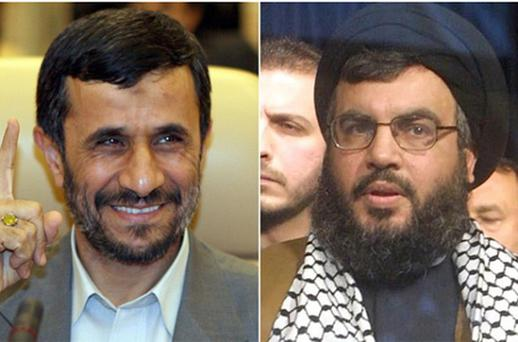 Iran's President Mahmoud Ahmadinejad (left) and Hassan Nasrallah, Hizbollah's leader. Photo: Getty Images