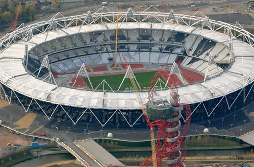 The Olympic Staduim and Olympic Park in East London. Photo: Getty Images